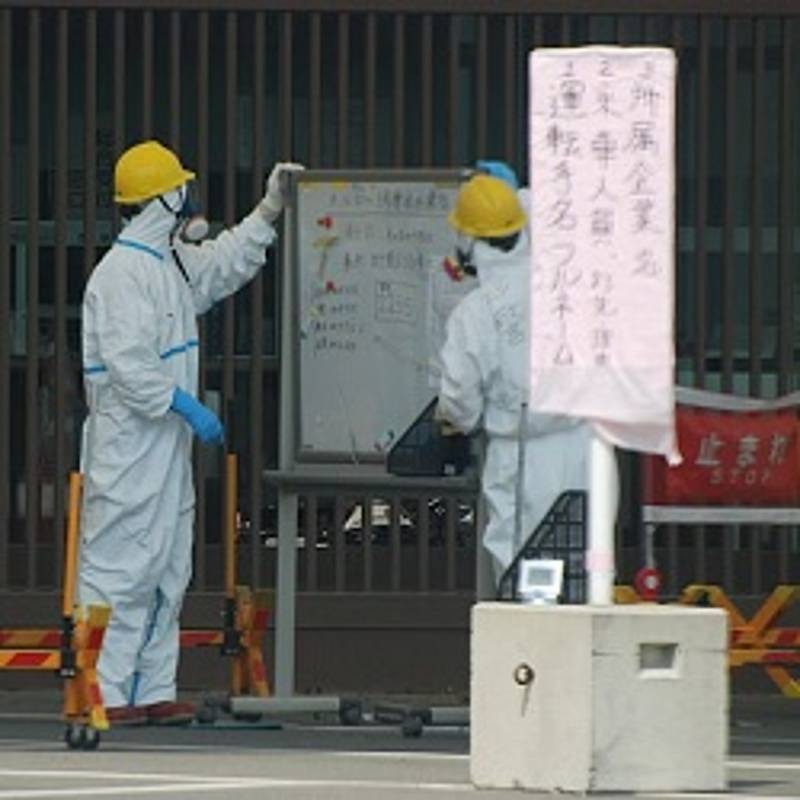 Atomkraftwerk Fukushima, April 2011, Quelle: Steven L. Herman [Public domain], via Wikimedia Commons