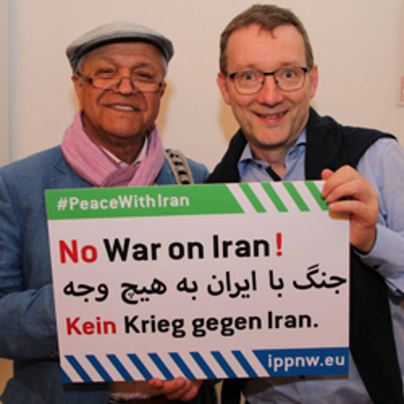 "Social-Media-Aktion ""No War on Iran"", Foto: IPPNW"