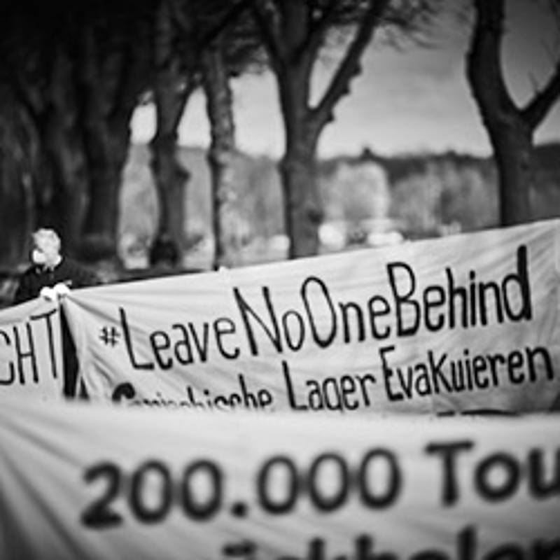 Leave no one behind, Aktion in Schwerin am 14. April 2020, Foto: Bildwerk Rostock