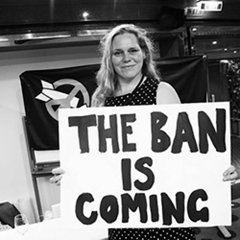 Susi Snyder, Nuclear Disarmament Programme Manager, PAX, aboard the Peace Boat in New York in October 2016, Foto: www.icanw.org