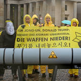 Protestaktion: USA versus Nordkorea, Foto: ICAN Germany