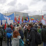Friedensdemonstration am 8. Oktober 2016 in Berlin, Foto: Linke Barnim